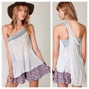 Free People New Romantics one shoulder top M
